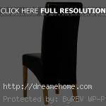 black leather dining chairs simple elegant