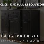 black simple wooden dining room buffet