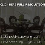 classic brown rattan dining chairs