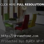 colorful modern dining table