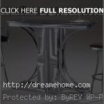 contemporary metal chrome bar table and chairs