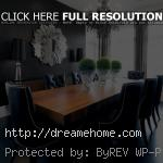 elegant modern black dining chairs