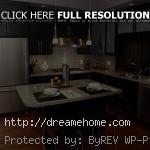 kitchen home with black kitchen cabinet modern kitchen design ideas with big refrigerator