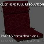 red and cool motif dining chair cushions