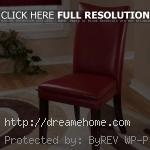 red leather dining chairs low price