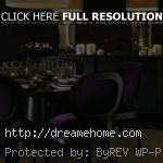 simple black dining chairs with purple touching