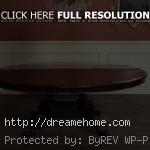 simple metalic paint round dining room tables