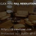 simple yellow living room furniture set