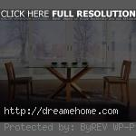 top glass wood dining table