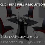 cool modern black red small dining table