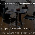 elegant with black small dining table