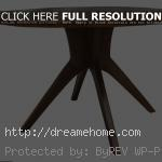 simple wood round dining room table model