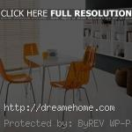 transparant yellow modern dining room chair