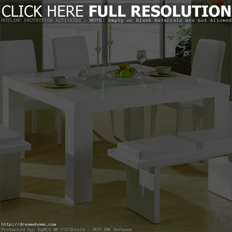 white solid small dining table